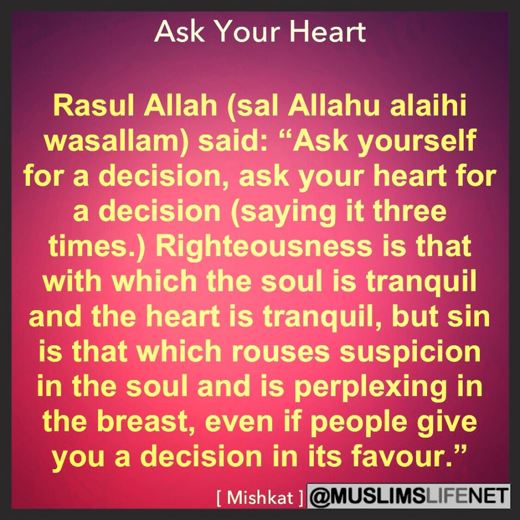 Hadith about Asking your Heart