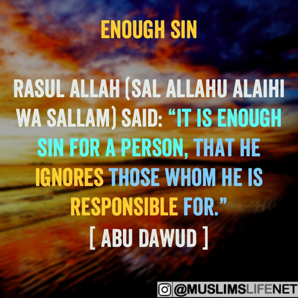 Hadith of the Day - Enough Sin