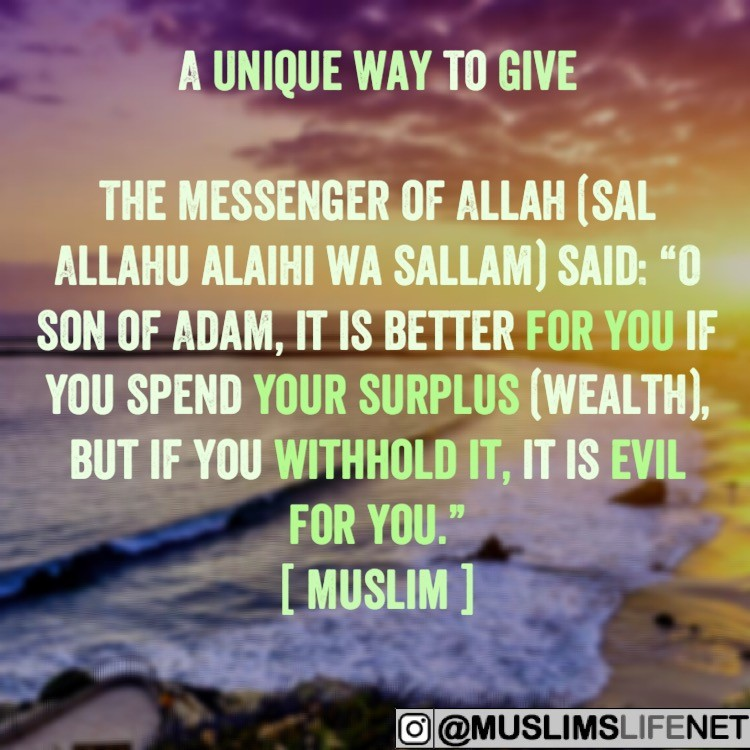 Hadith - A Unique Way To Give